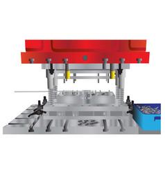 Hydraulic press machine vector