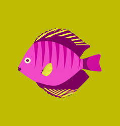 In flat style discus fish vector