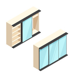 Isometric built-in wardrobe vector