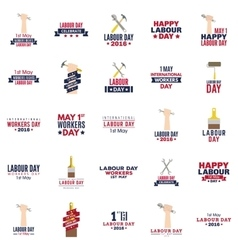 Labour day labels vector