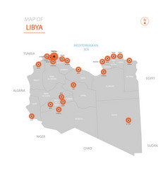 Libya map with administrative divisions vector