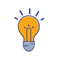 Light bulb idea to intelligent and creative vector