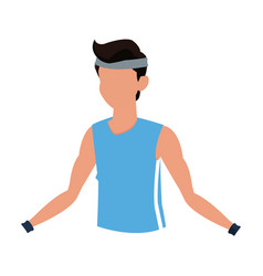 Man fitness sport training clothes vector