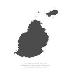 map mauritius isolated black vector image
