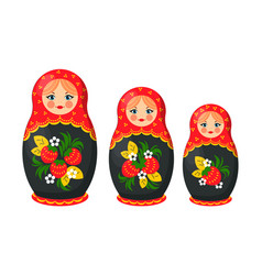 Matryoshka nesting doll set vector