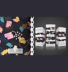 Memphis seamless pattern - idea for print t-shirt vector