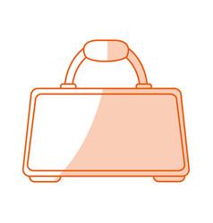 Monocromatic briefcase design vector