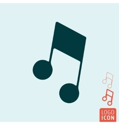 Music note icon isolated vector image