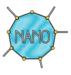 nano molecular structure in color crayon vector image