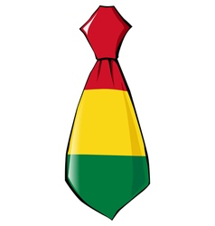 Necktie in national colours of Bolivia vector