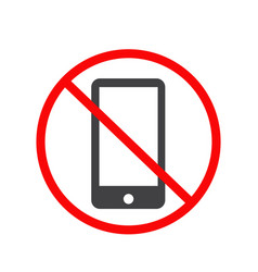 no mobile phone icon no phone telephone cellphone vector image