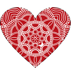 ornate heart in victorian style elegant vector image