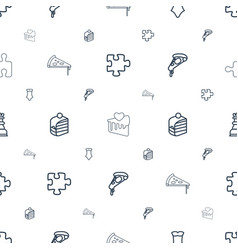 piece icons pattern seamless white background vector image
