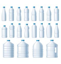 plastic bottles water cooler bottle pet package vector image