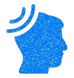 Radio Reception Brain Grainy Texture Icon vector