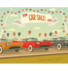 Retro car sale vector