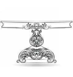 Rich Baroque Table with carved ornaments vector image