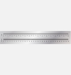 ruler measuring scale markup for rulers vector image