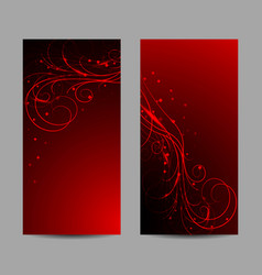 set banners with beautiful shiny pattern vector image