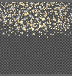 simple design of falling stars on dark vector image