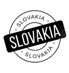 Slovakia rubber stamp vector