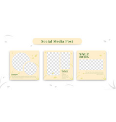 Social media ig instagram content post frame set vector