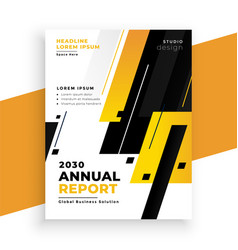 stylish yellow annual report business brochure vector image