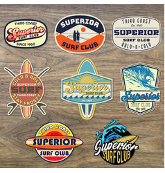 Third coast surf badges vector