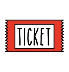 Ticket cinema isolated icon design vector