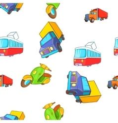 Transport pattern cartoon style vector