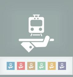 Travel icon train service vector