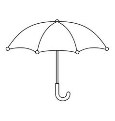 umbrella icon outline style vector image