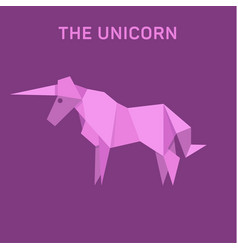 unicorn origami animals vector image