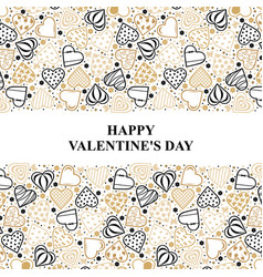 Valentines day card with ornament decorative vector
