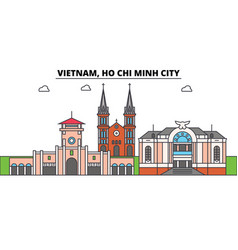 Vietnam ho chi minh city outline skyline vector