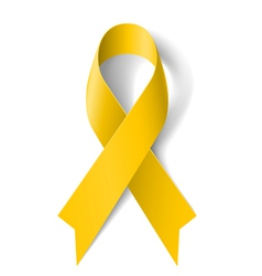 Yellow ribbon vector