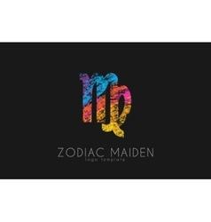 Zodiac maiden logo design Maiden symbol logo vector