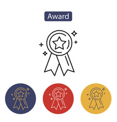 award icon medal achievement concepts vector image vector image