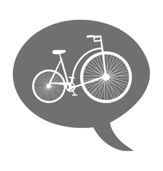 bicycle vehicle drawn isolated icon vector image vector image