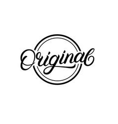 original hand written lettering sign logo stamp vector image vector image