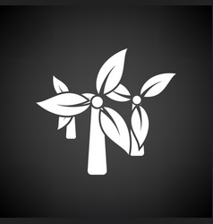 wind mill leaves in blades icon vector image vector image