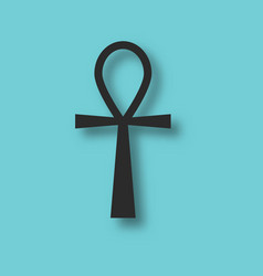 ankh ancient egypt symbol vector image