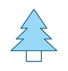 Cute blue tree cartoon vector