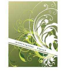 floral background banner vector image vector image