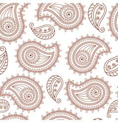 Henna tattoo mehndi style seamless background vector image vector image