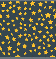 shiny star seamless pattern pointed pentagonal vector image