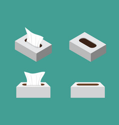 tissue box icons in flat style vector image