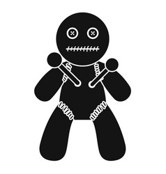 voodoo icon simple style vector image