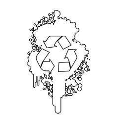 figure stain aerosol sprays with recycle symbol vector image vector image