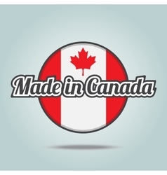 Made in Canada vector image vector image